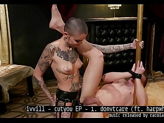 Short Hair Tattooed Girl Femdom Pegging Music By ivvill