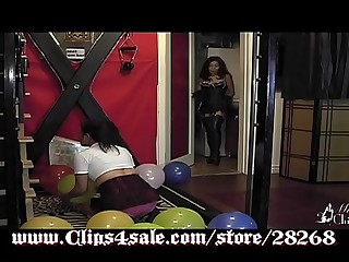 "Mistress Chinadoll and Anita Mann in ""Balloon Party"""