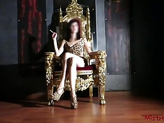 Mistress Smoking on her Throne