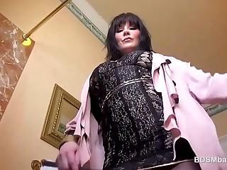 Mistress With Big Tits Fucks Hairy Hole