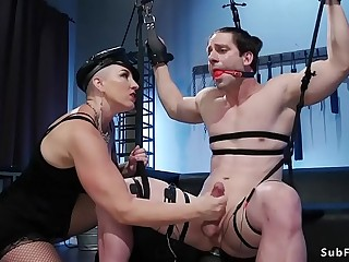 Mistress Kara electro shock big cock man