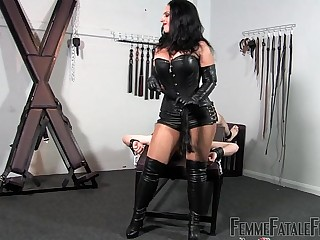 Under My Arse part3 - Mistress Ezada Sinn - FemmeFataleFilms - FaceSitting