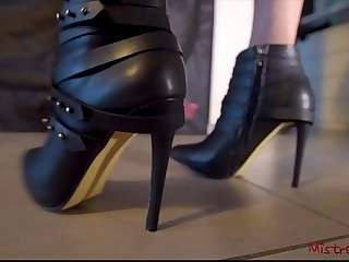 Mistress Boots with High Heels (POV) - Mistress Kym