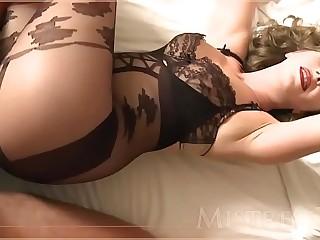 Mistress T in pantyhose