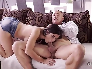 OLD4K. Hot old and young fucking scene ends with cumshot in mouth of Mira Cuckold