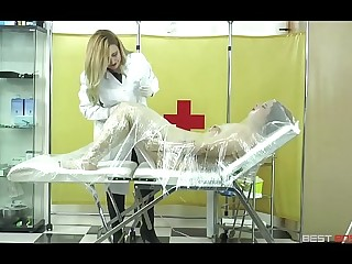 Medical momification - Subtitled. Mistress Noor and Lady Gore Flogguer