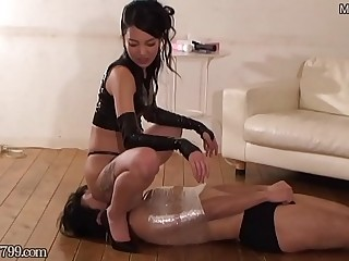 Japanese Femdom Sara Difficult Breathing Facesitting
