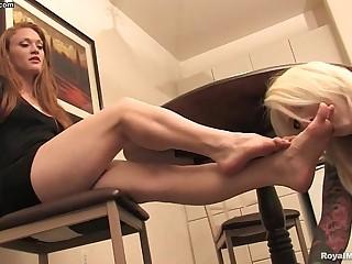 Lesbian foot fetish - Mistress Tyler Aria