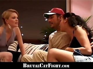 Blonde spank her boyfriend mistress