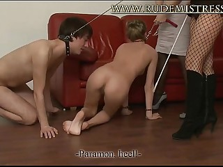 Horny Mistresses And Their Dog Slaves