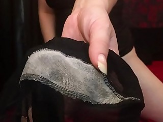 Pantyhose Fetish with Pussy Juices. Mistress Hotwife Venus.