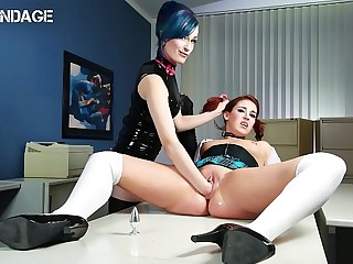 FORBONDAGE - German College Teen Ariana Love Submit To Her Kinky Mistress