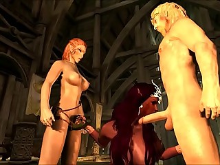 2015 HD Skyrim Sexy Dance and How to Build Mistress of Death Character by SEXY GAMERXXX