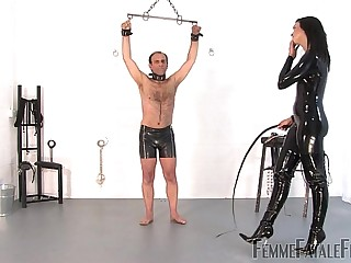 Willing To Please part3 - The Hunteress - FemmeFataleFilms - Brutal Whipping