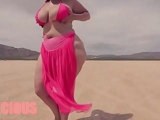 SmotherQueen Delicious On Demand dancing in the desert.