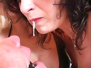 Mom and daughter spit in the mouth of a bound peasant.