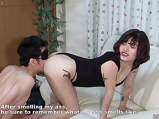 Japanese Girl makes a man remember the smell of her ass hole