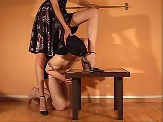 Sexy femdom foot worship