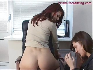 Facesitting at the office 2/4
