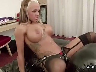 Femdom German Teen Fuck older Man and Piss on him