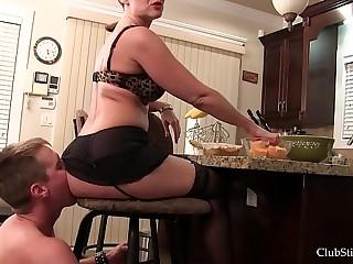 Club Stiletto FemDom -Kandy's Stool Bound Ass Licker. Starring Mistress Kandy