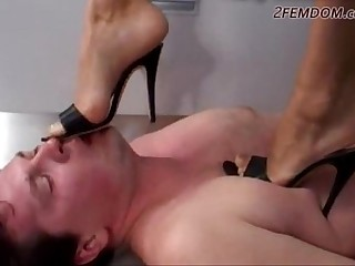 Russian Goddes trample slave