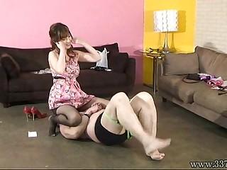 Japanese Femdom Mayumi Asou Whipping