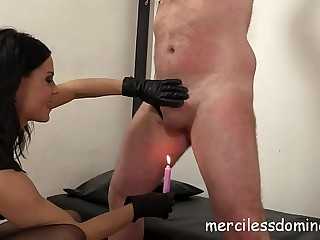 Femdom by Lady G - Hot Wax Play with Merciless Mistress