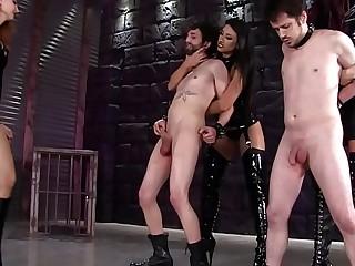 [BallbustingHD.com] BALLBUSTING PAIN PARTY by THREE mistresses! FEMDOM